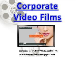 Corporate Video Films@9899700535