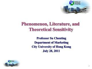 Phenomenon, Literature, and  Theoretical Sensitivity