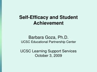 Self-Efficacy and Student Achievement