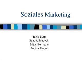 Soziales  Marketing