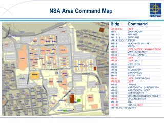 NSA Area Command Map