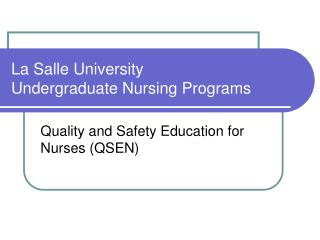 La Salle University Undergraduate Nursing Programs