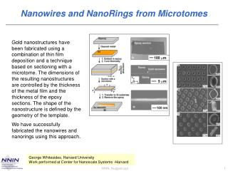 Nanowires and NanoRings from Microtomes