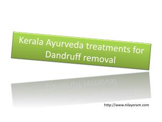 Kerala Ayurveda treatment for dandruf treatment