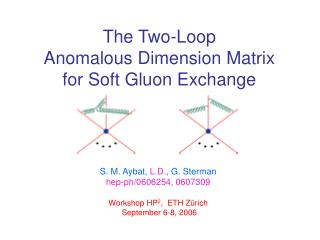 The Two-Loop  Anomalous Dimension Matrix for Soft Gluon Exchange