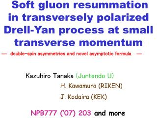 Soft gluon resummation  in transversely polarized  Drell-Yan process at small transverse momentum