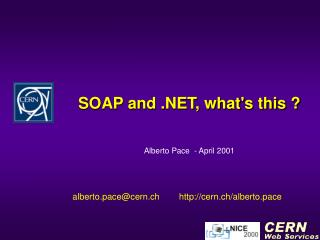 SOAP and .NET, what's this ?