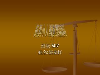 班級 :507 姓名 : 張嘉軒