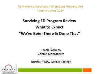 "Surviving ED Program Review What to Expect ""We've Been There & Done That"""