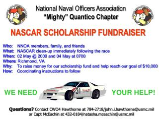 National Naval Officers Association �Mighty� Quantico Chapter