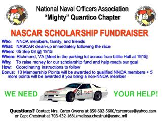 """National Naval Officers Association """"Mighty"""" Quantico Chapter"""