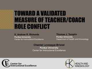 Toward a Validated Measure of Teacher/Coach Role Conflict