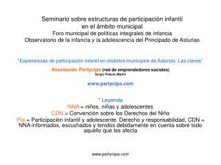 """""""Experiencias de participación infantil en distintos municipios de Asturias. Las claves"""""""