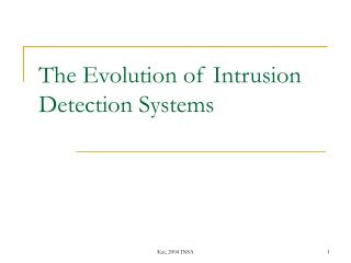 The Evolution of Intrusion Detection Systems