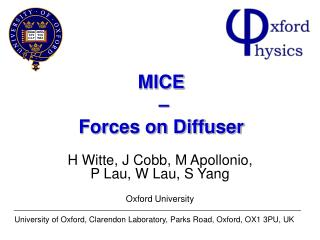 MICE  – Forces on Diffuser