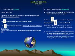 TEMA 2 .  Fracciones 2º E.S.O