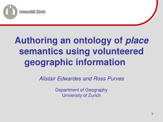 Authoring an ontology of  place  semantics using volunteered geographic information