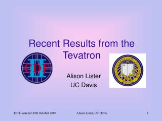 Recent Results from the Tevatron