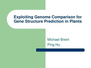 Exploiting Genome Comparison for Gene Structure Prediction in Plants