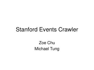 Stanford Events Crawler