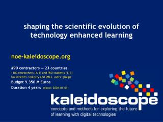 shaping the scientific evolution of technology enhanced learning