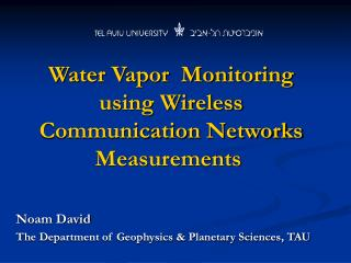 Water Vapor  Monitoring using Wireless Communication Networks Measurements