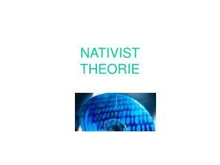 NATIVIST THEORIE