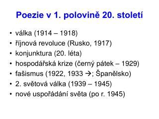 Poezie v 1. polovině 20. století