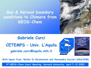 Gas & Aerosol boundary conditions to Chimere from GEOS-Chem