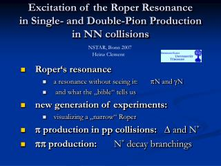 Excitation of the Roper Resonance  in Single- and Double-Pion Production in NN collisions