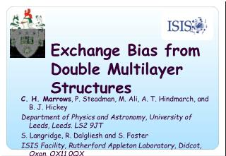Exchange Bias from Double Multilayer Structures
