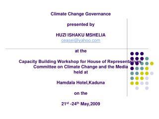 Governance as…….