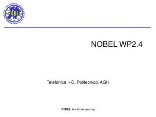 NOBEL WP2.4