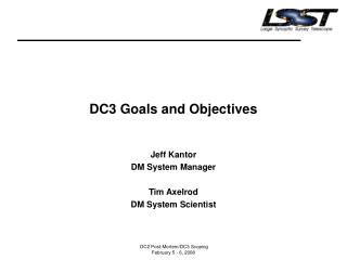 DC3 Goals and Objectives