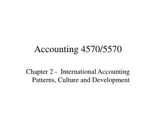 Accounting 4570/5570