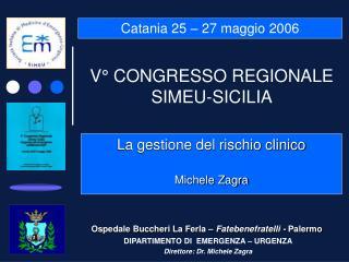 V  CONGRESSO REGIONALE SIMEU-SICILIA