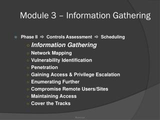Module 3 – Information Gathering