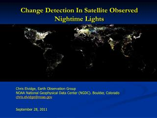 Change Detection In Satellite Observed  Nightime Lights