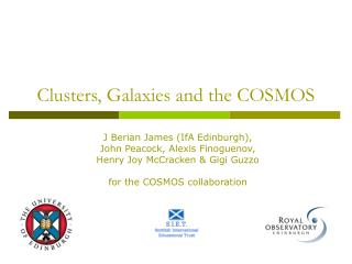 Clusters, Galaxies and the COSMOS