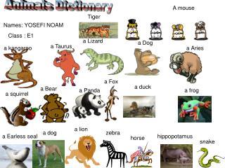 Animais Dictionary