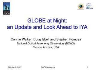 GLOBE at Night:  an Update and Look Ahead to IYA