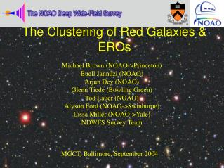 The Clustering of Red Galaxies & EROs