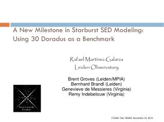 A New Milestone in Starburst SED Modeling:  Using 30 Doradus as a Benchmark
