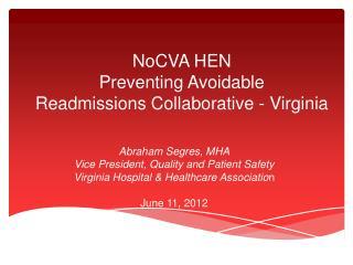 NoCVA HEN Preventing Avoidable Readmissions Collaborative - Virginia