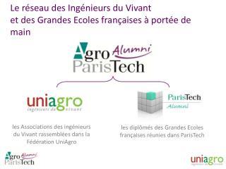 Le réseau des Ingénieurs du Vivant  et des Grandes Ecoles françaises à portée de main