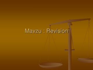 Mavzu : Revision