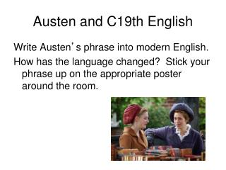 Austen and C19th English