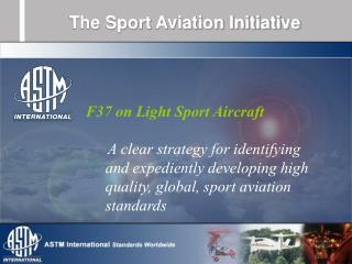 The Sport Aviation Initiative