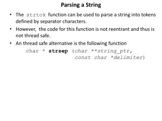 Parsing a String