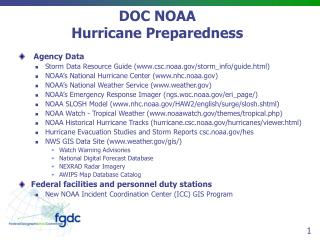 DOC NOAA Hurricane Preparedness